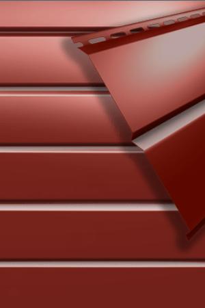 Металлосайдинг L-брус Коричнево-красный (RAL 3011)